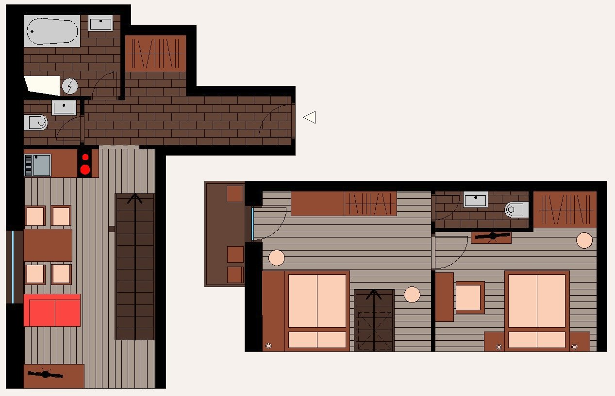 Ground plan - Maisonette apartment FAMILY with balcony [4+1]